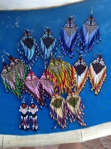Huichol beaded earrings.